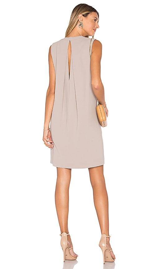 Vince Crepe Shift Dress in Beige