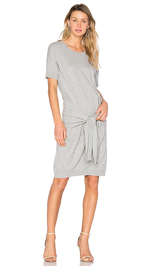 Vince Tie Front Dress in Gray