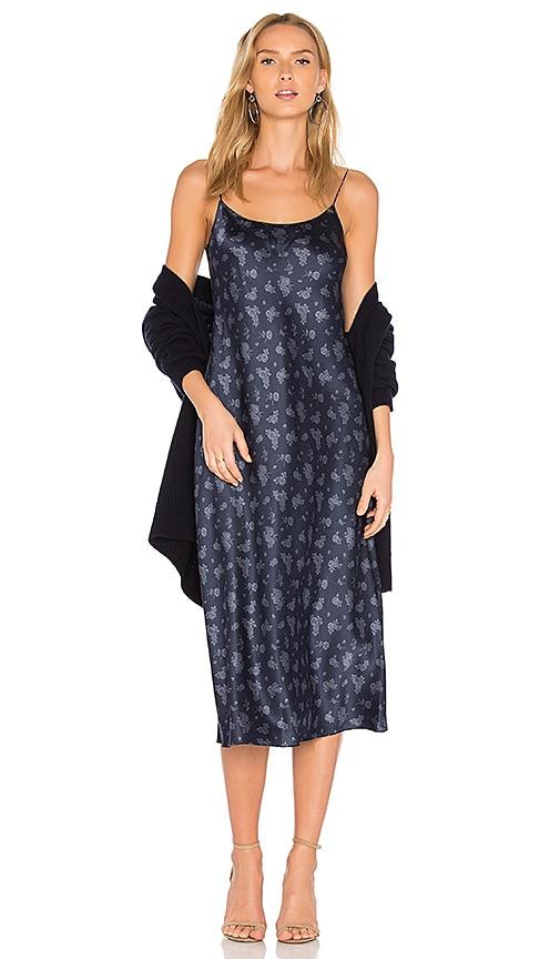 Vince Floral Slip Dress in Blue