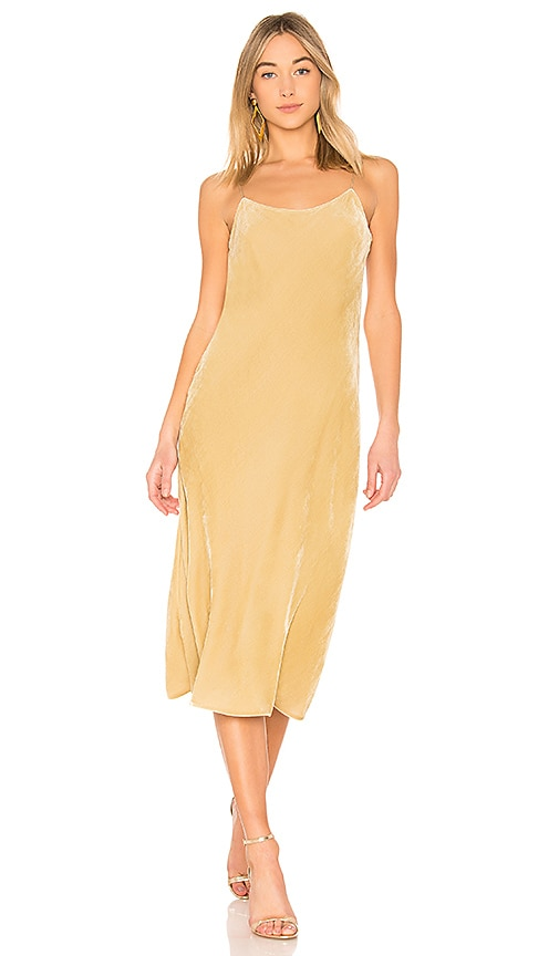 Vince Velvet Cami Dress in Yellow