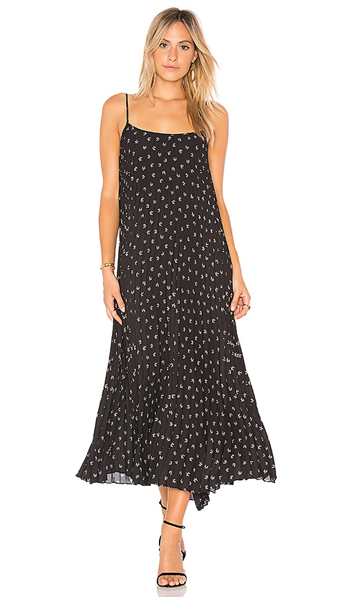 Vince Tossed Ditsy Cami Dress in Black