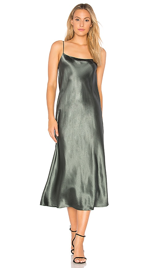 Vince Slip Maxi Dress in Green