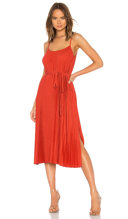 Vince Pleated Cami Dress in Rust