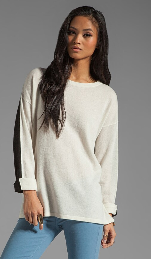 Colorblock L/S Side Slit Sweater