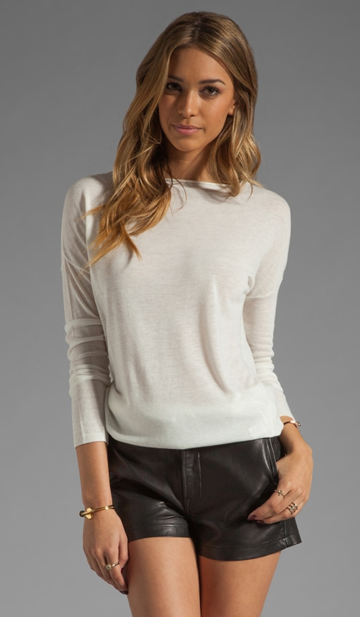 Solid Boatneck Sweater