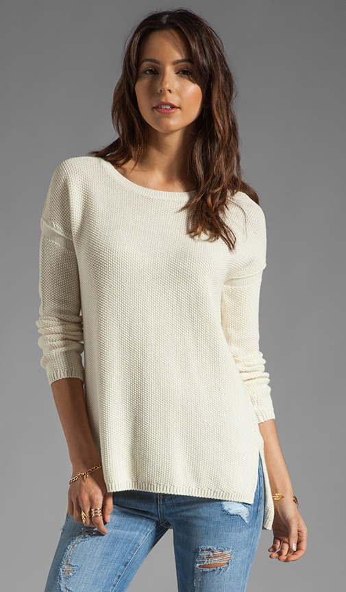 Seed Stitch Stretch Crew Sweater