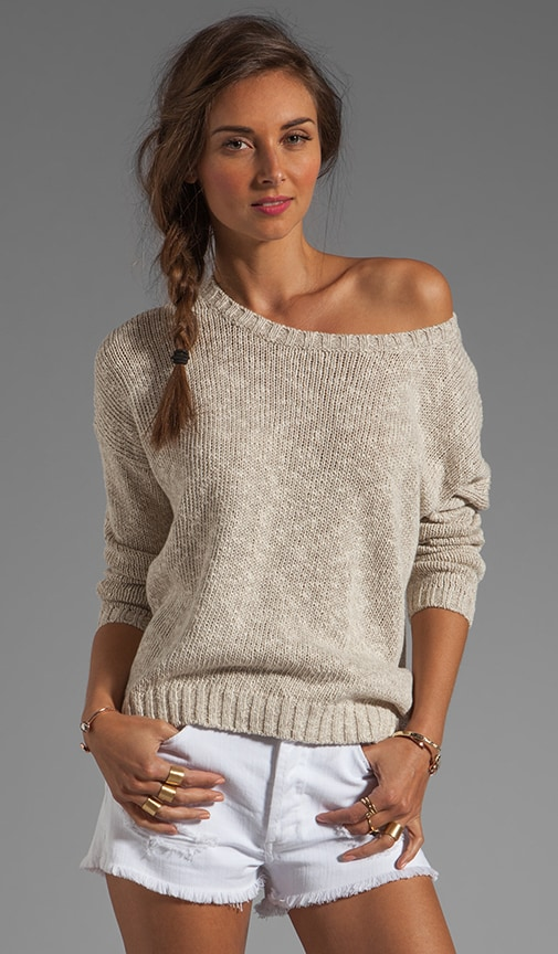 Long-Sleeve Square Sweater