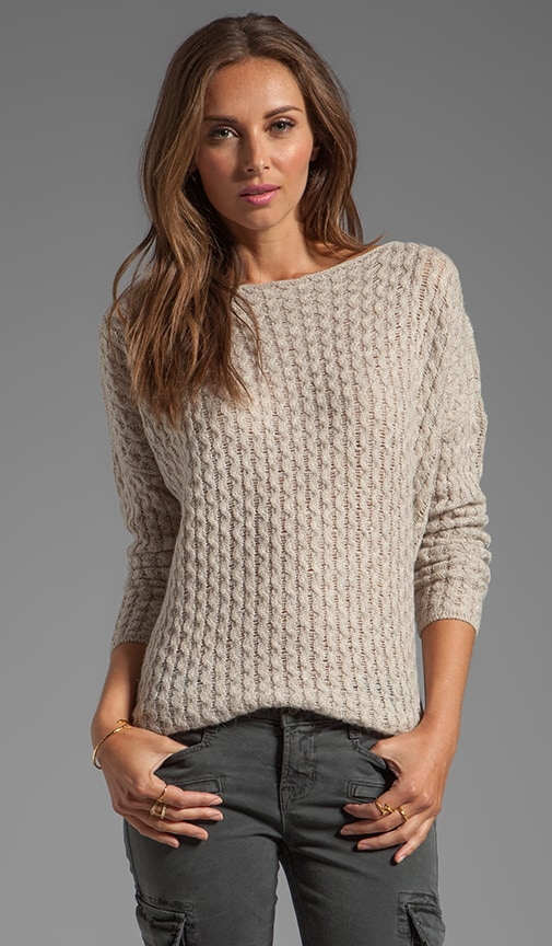 Mini Cable Shirt Tail Sweater