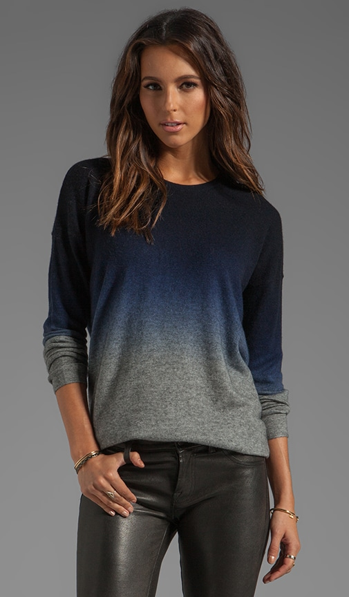 Oversized Wool-Cashmere Ombre Crew