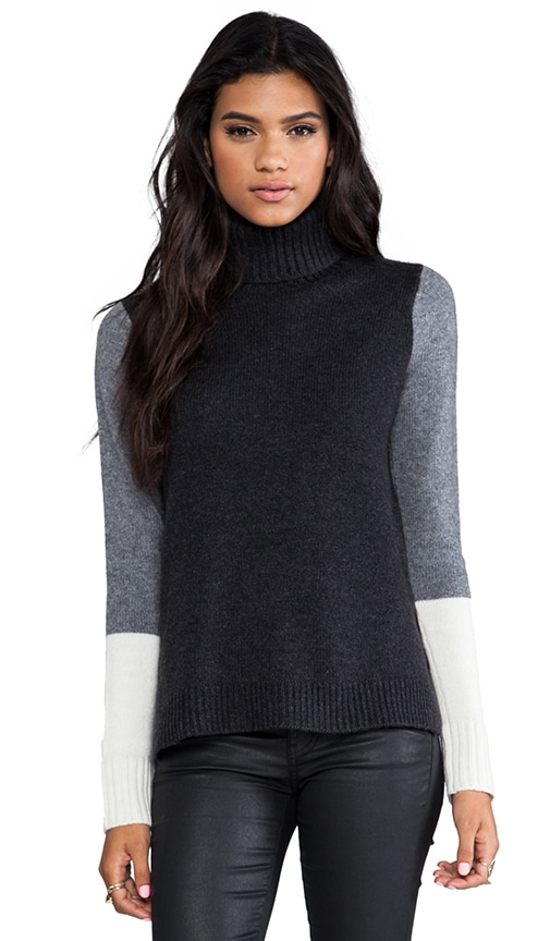 Tri Color Block Turtleneck