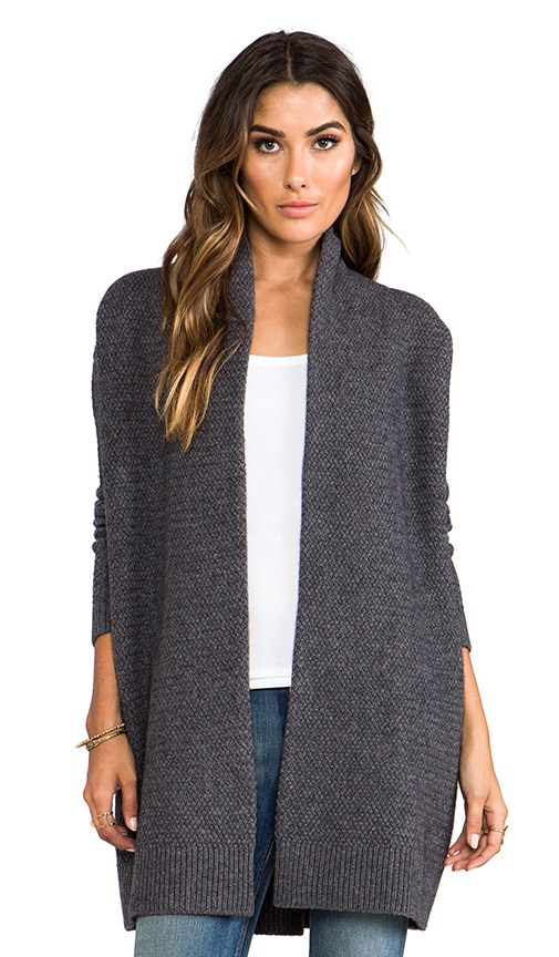 Textured Drape Cardigan