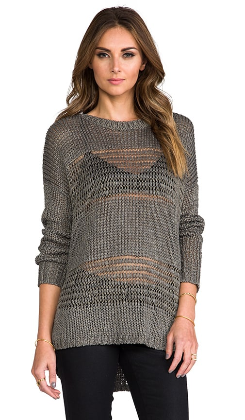 Shadow Stripe Boatneck Sweater