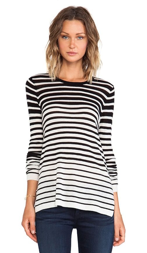 Striped Crew Sweater
