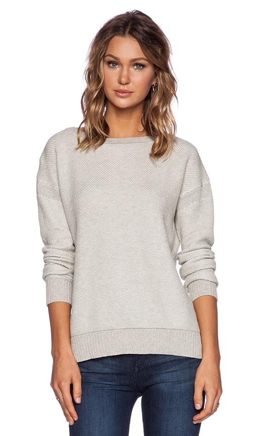 Color Jacquard Sweater inDove & Off White