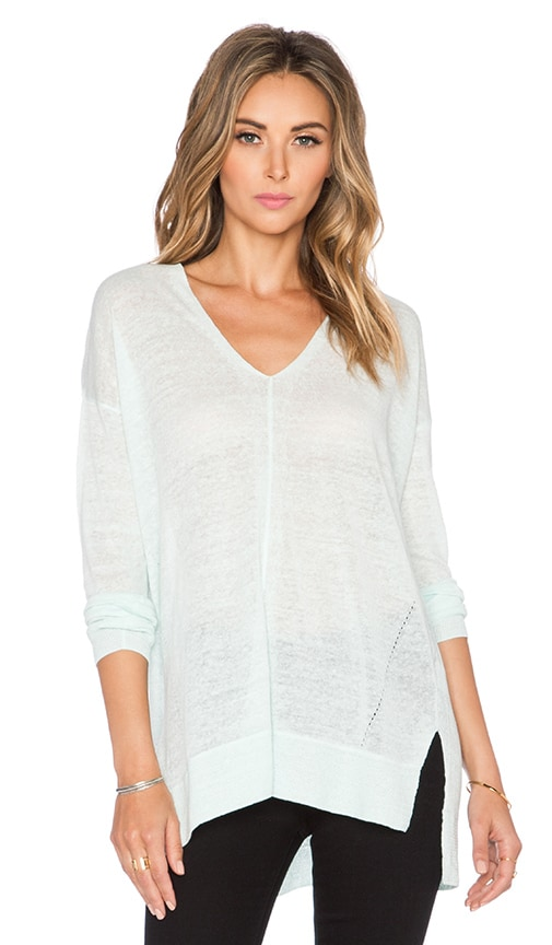 Vince Double V Cardigan in Mint