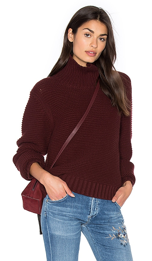 Vince Cowl Neck Sweater in Burgundy