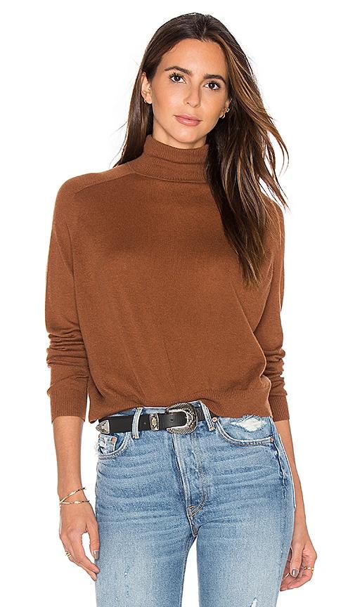 Vince Turtleneck Sweater in Brown