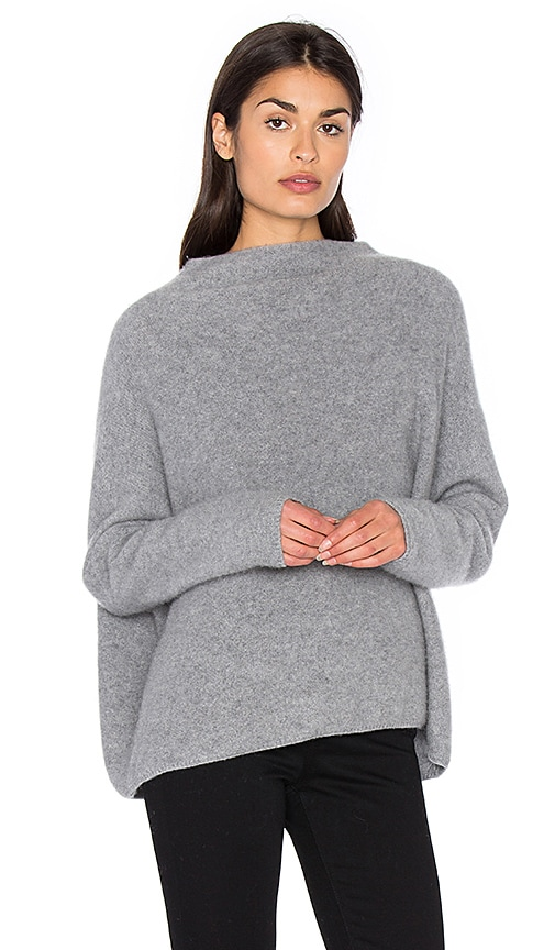 Vince Funnel Neck Sweater in Grey