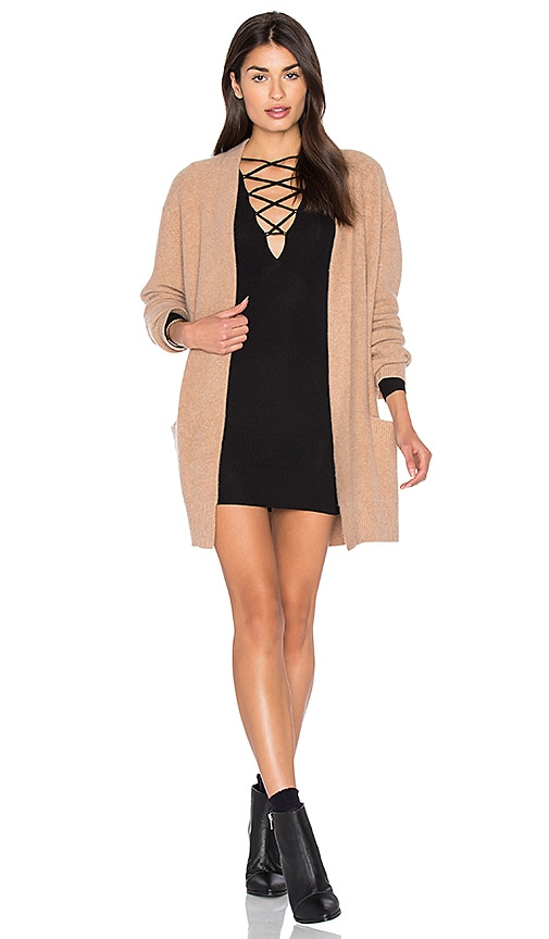 Vince Robe Cardigan in Tan