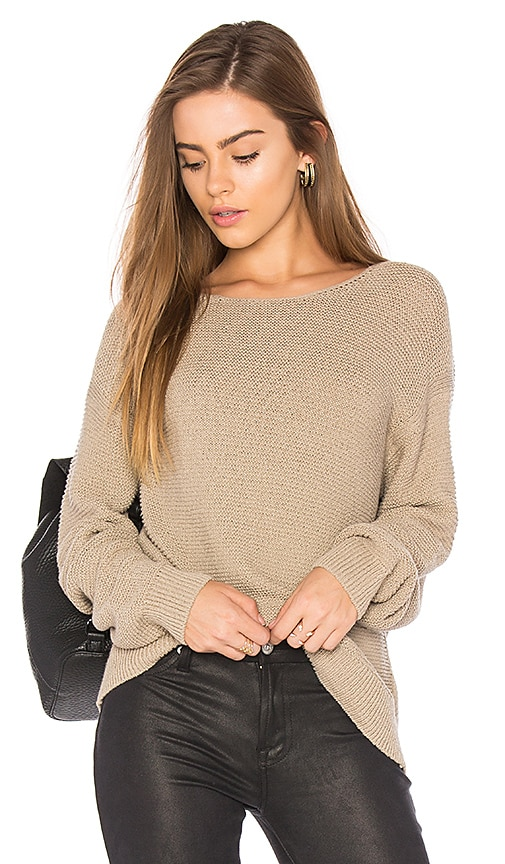 Vince Textured Pullover in Beige