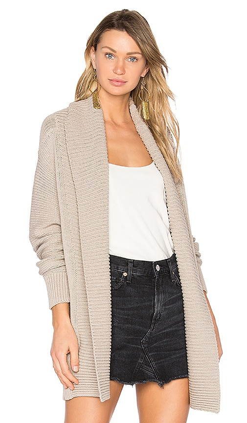 Vince Chunky Cardigan in Gray