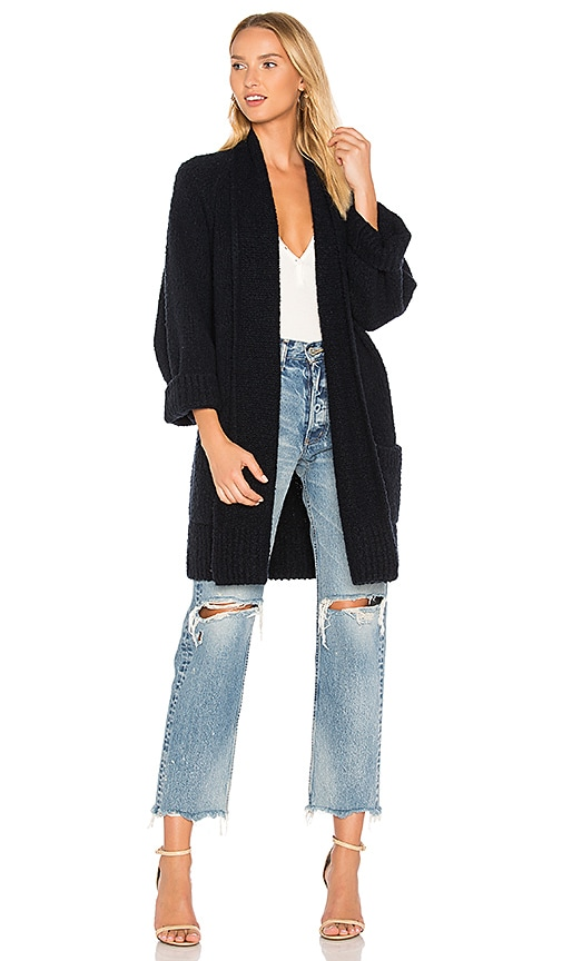 Vince Oversized Cardigan in Navy