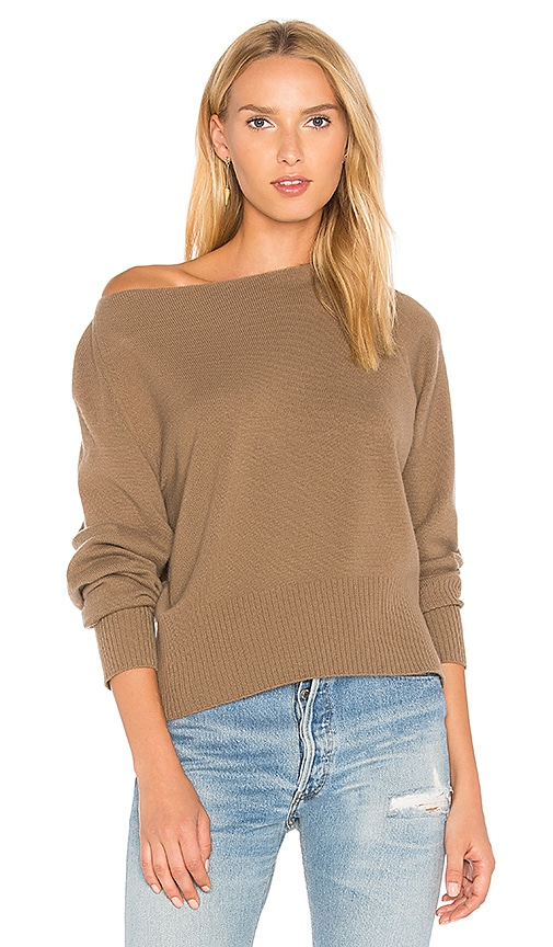 Vince Boatneck Sweater in Brown