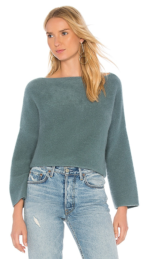 Vince Boxy Sweater in Teal