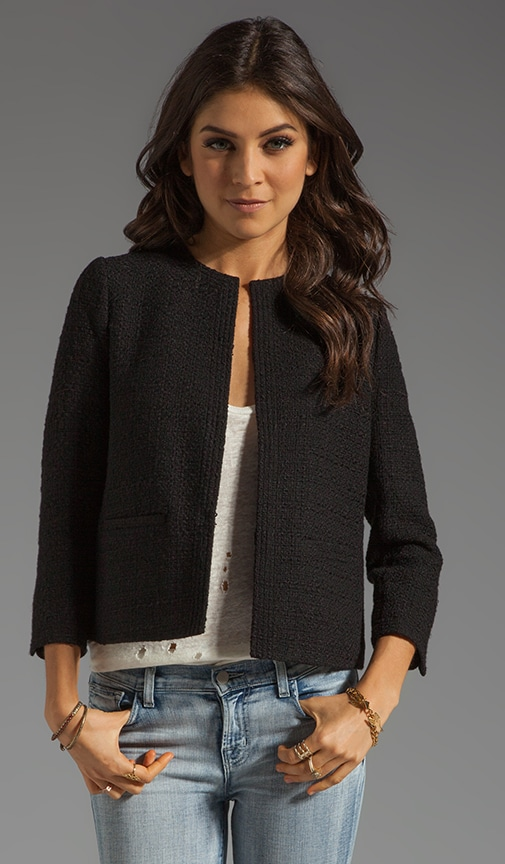 Wool Blend Cropped Jacket