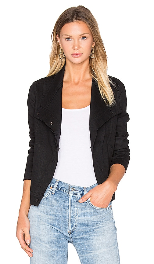 Vince Coated Denim Jacket in Black