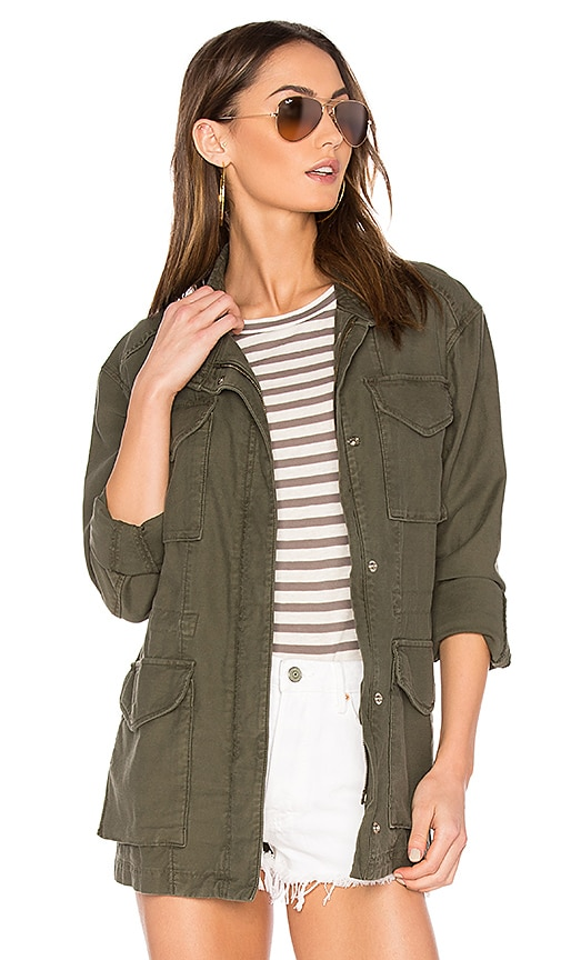 Vince Military Jacket in Army
