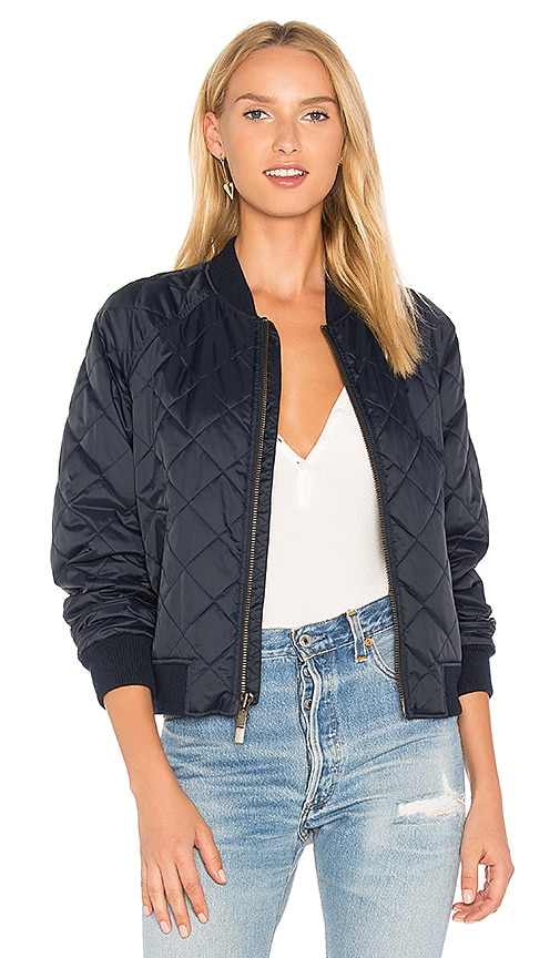 Vince Quilted Bomber in Navy