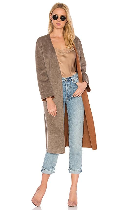 Vince Reversible Belted Coat in Brown