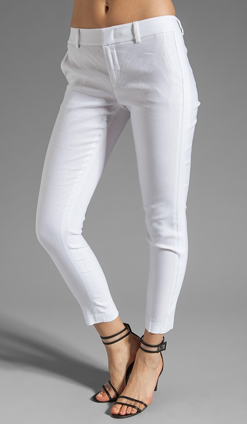 Linen Sportswear Solid Strapping Pant