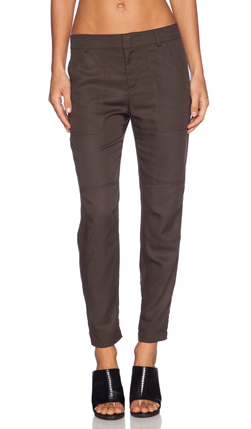 Vince Twill Cargo Pant in Palm