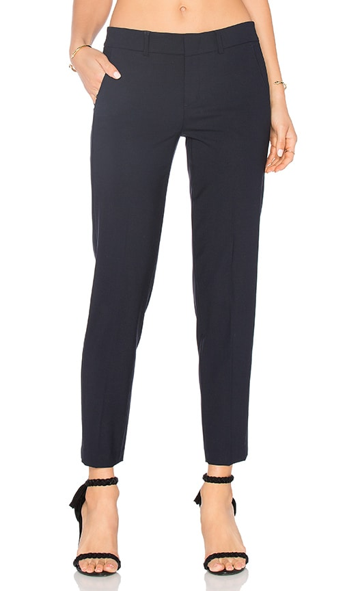 Vince Side Strapping Pant in Navy