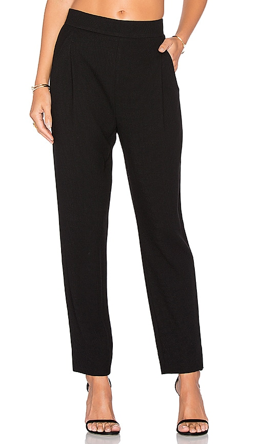 Vince Waffle Knit Pleat Pant in Black