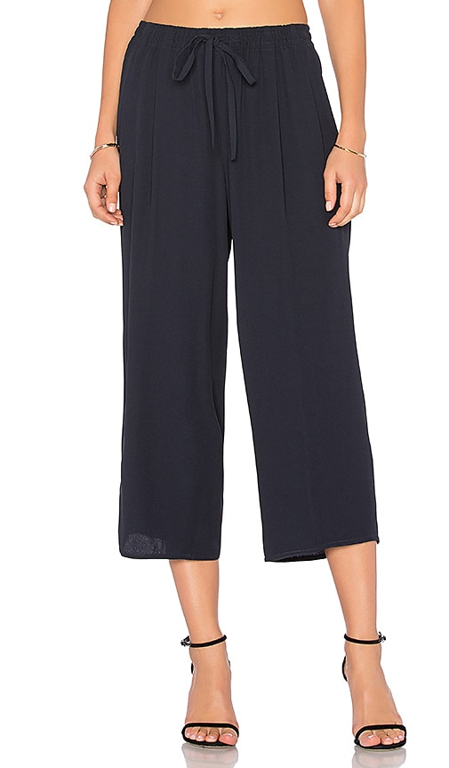 Vince Draped Drawstring Pant in Navy