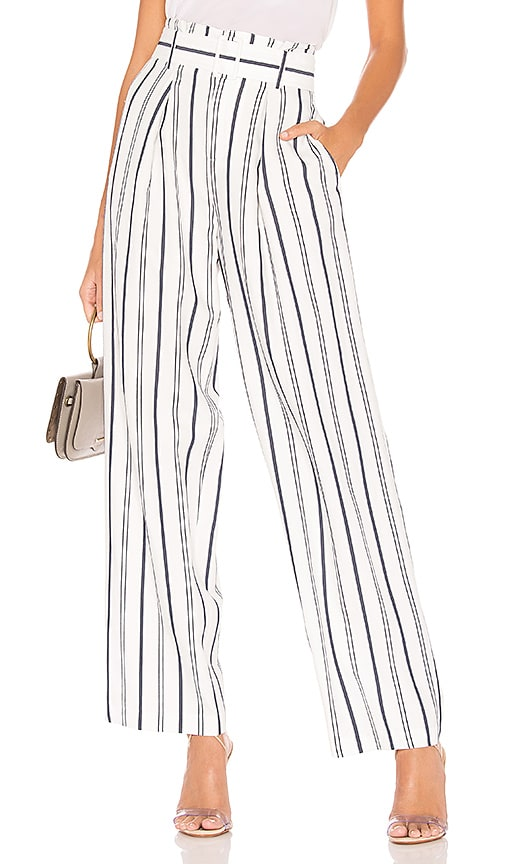 Dobby Stripe Belted Pant