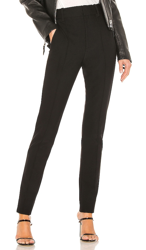 High Waist Cigarette Pant In Black by Vince