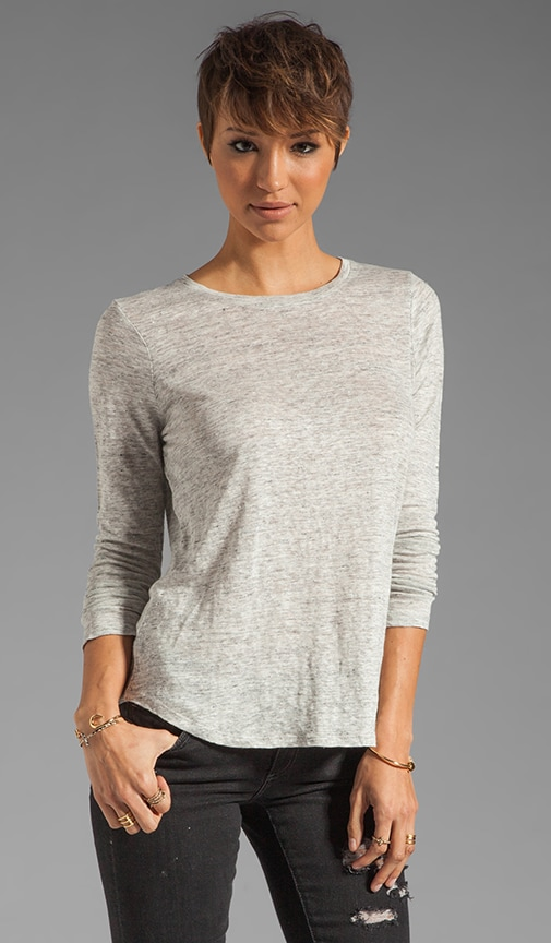 Long Sleeve Shirt Tail Tee