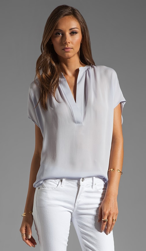 Silk Cap Sleeve Popover Top