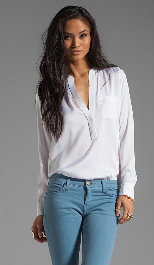 Silk Half Placket Pocket Shirt