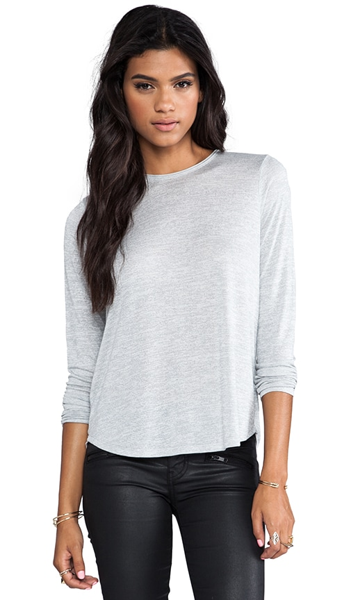 Long Tail Hem Crew Neck Tee