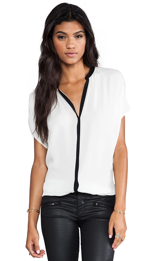 Contrast Placket Blouse