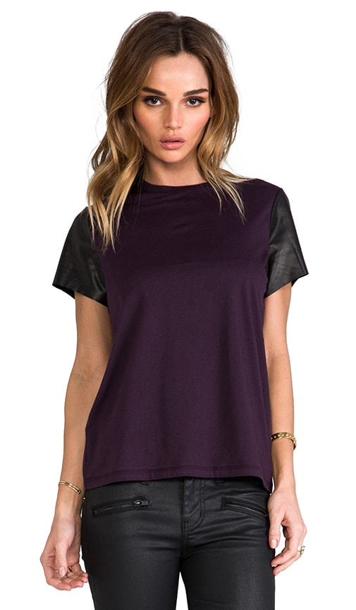 Leather Sleeve Tee