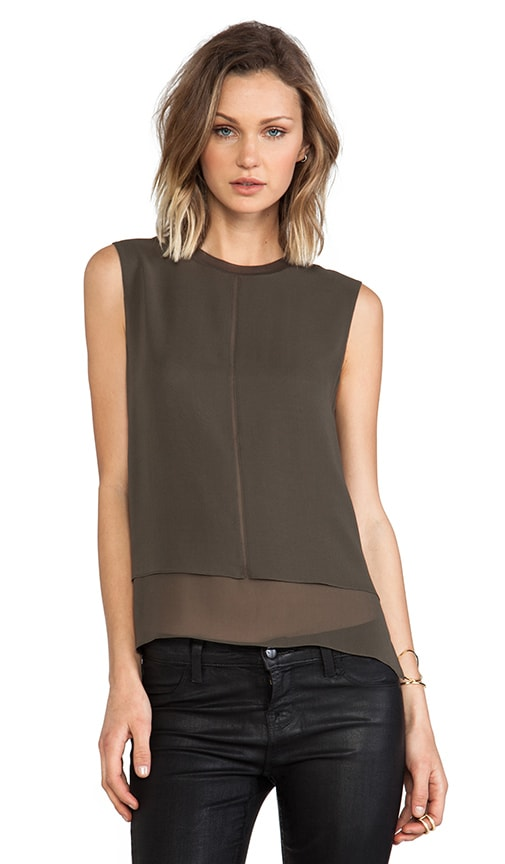 Sleeveless Overlay Tank