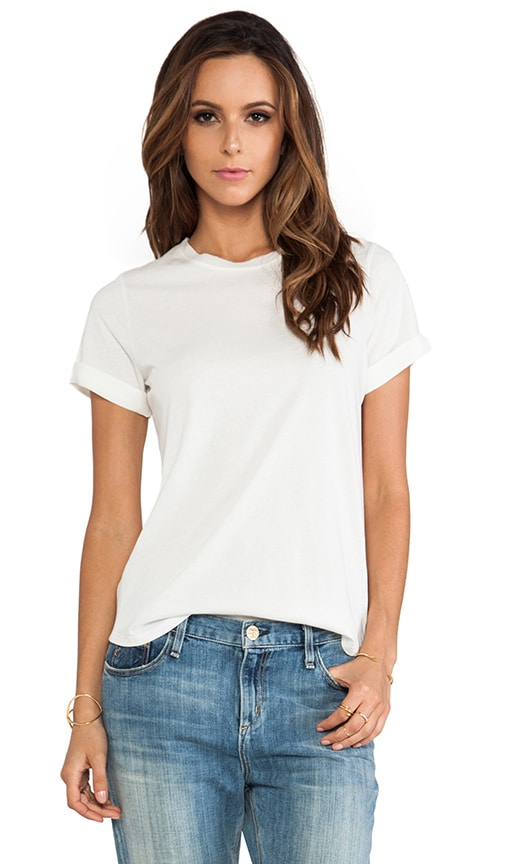 Silk Trim Shirt Tail Tee
