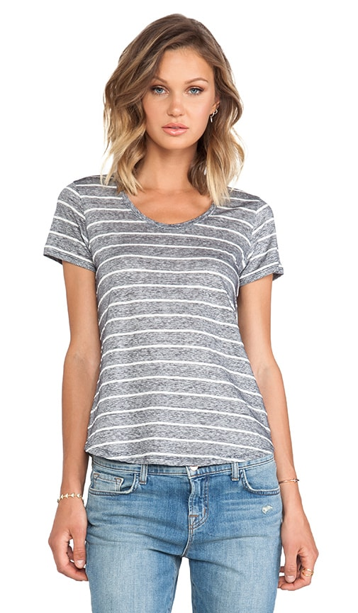 Short Sleeve U-Neck Top