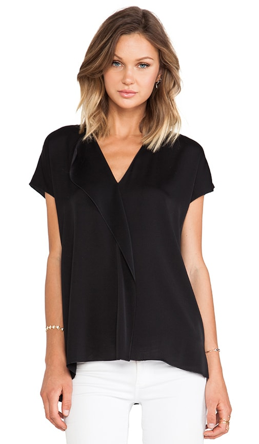 Cascade Short Sleeve Blouse